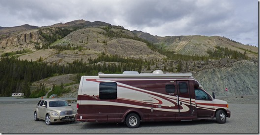 Parked along Kluane Lake, near Soldier's Summit
