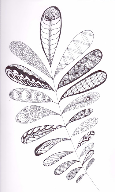 Feel Like Could Do This With Lots Of Different Patterns Try It  Yourself Feathered Branch Doodle