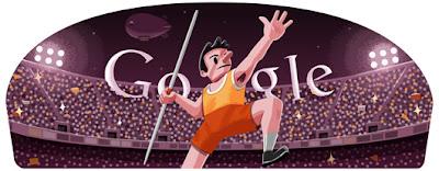 Google Doodle Speerwerfen