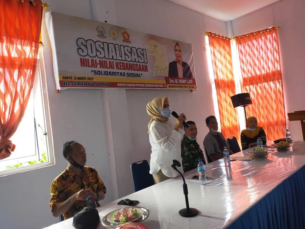 Sosialisasikan Nilai Kebangsaan, Legislator Gerindra Henny Latif Ajak Masyarakat Maknai Nilai Kebangsaan Melalui 4 Pilar