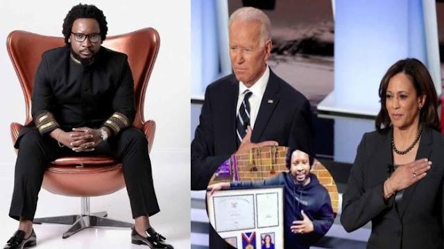 Sonnie Badu receives Lifetime Achievement Award from President Joe Biden & Vice