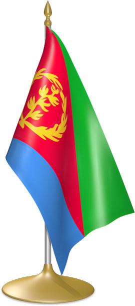 Eritrean table flags - desk flags
