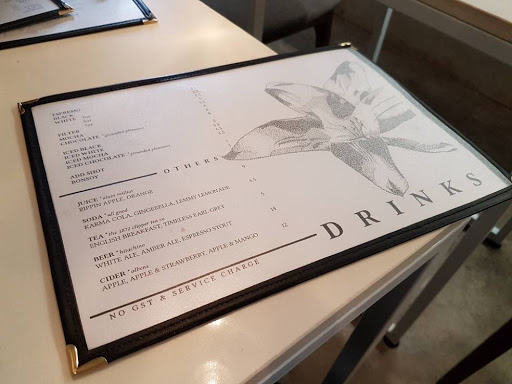 Drinks menu from Botanist at Outram Park
