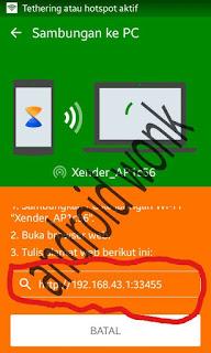 mengirim file di android ke komputer
