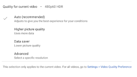 Youtube Video Quality