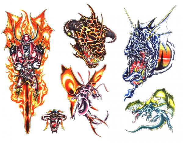 Mysterious Tattoo Design 8, Fantasy Tattoo Designs