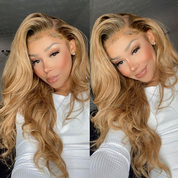body wave 27 and ombre lace front wigs