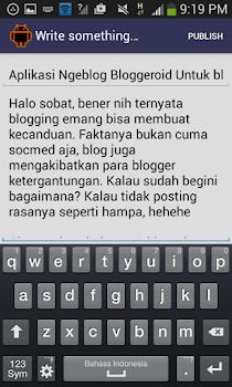 Aplikasi Ngeblog Bloggeroid Untuk blogger