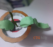 Flower heart pot papercraft