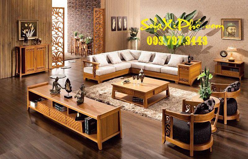 Bọc nệm ghế sofa gỗ tại nhà - May nệm ghế salon gỗ tại hcm