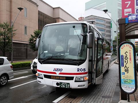 京王電鉄バス 長野線 PS仕様車 K51205 長野駅到着