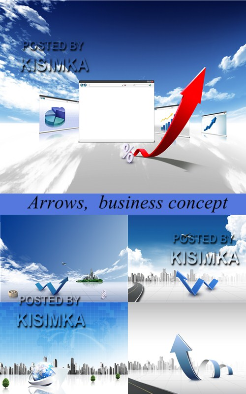 Stock Photo: Arrows, business concept