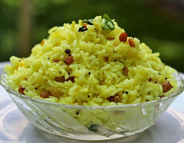 Lemon Rice Recipe | How to make South Indian style Lemon Rice from Foodomania.com