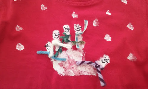 Camiseta pintada infantil
