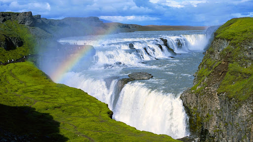 Rainbow Over Gullfoss Waterfall, Iceland.jpg