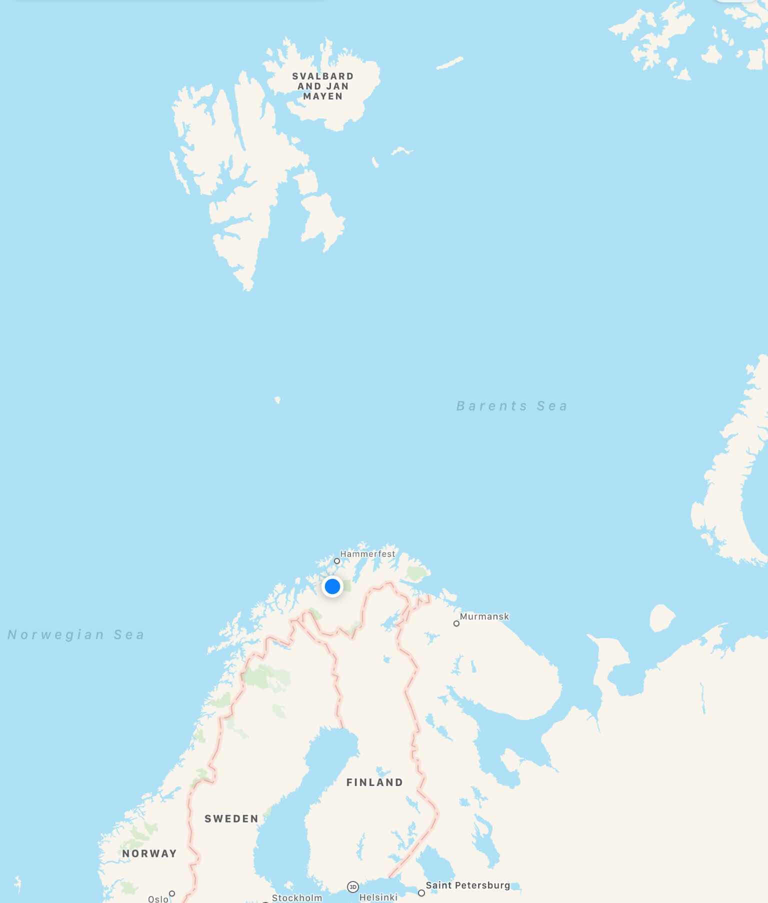 of Alta, Norway on our Viking Sky cruise in search of the northern lights