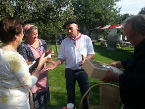 Photo: Burgemeester Van Ruijven, Dittie van Zee, Hans van Burk en Jaap Zwart.