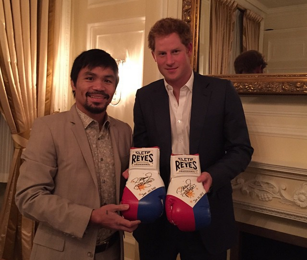 manny pacquiao and prince harry photo