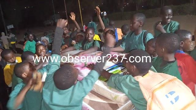 PSS Mankon: Students rejoice as Hon Nestus Fru Manju hands relief aid