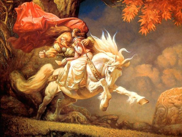 King And Princess On White Horse, Spirit Companion 1