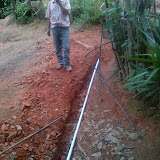 After the pipe was laid