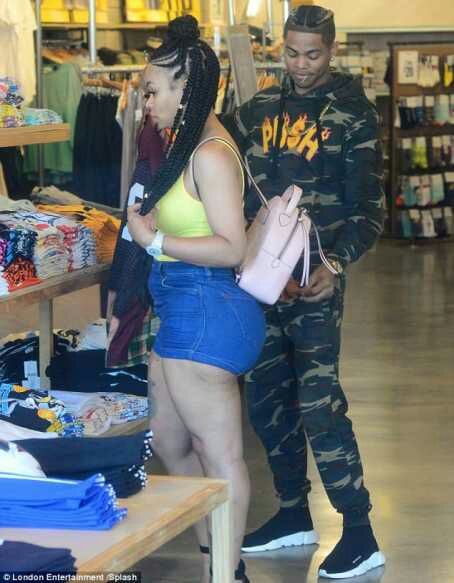Blac Chyna flaunts butt in hot shorts asshe shops for boyfriend Mechie