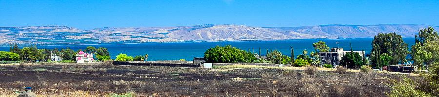 Капернаум. Панорама побережья Кинерета. Экскурсия Галилея христианская. Экскурсовод Светлана Фиалкова