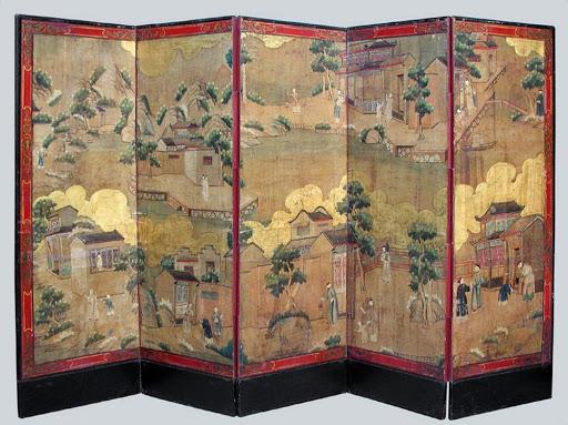 Chinoiserie  screen