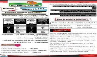 مذكرة شرح وتمارين على منهج اللغة الانجليزية للصف الاول الاعدادى الترم الاول 2021 اعداد مستر عبدالرحيم حسن