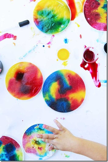 Salty Rainbows Rrocess Art - This is such a fun, creative, and colorful kids activities that toddler, preschool, kindergarten and elementary age kids are going to love!