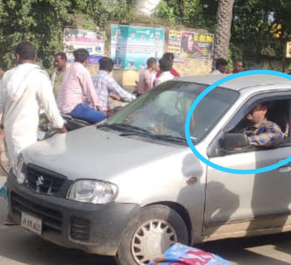 शराब मामले में जप्त कार का उपयोग कर रहे हैं थाना प्रभारी डब्लू कुमार