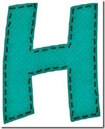 h letras verdes