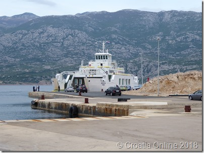 Croatia Online - Ferry to Pag