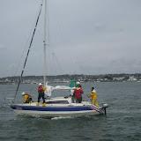 ILB crew members aboard the yacht - 21 April 2013.  Photo credit: Anne Millman