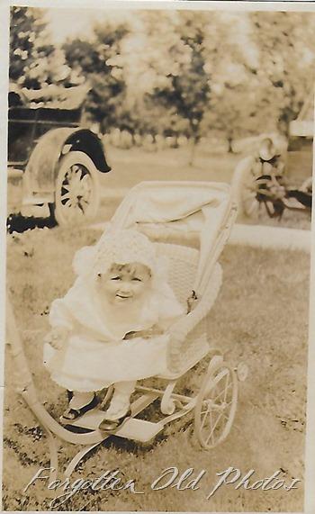 Girl in Stroller DL ant