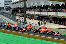 Start of the 2014 Brazilian F1 GP best of the rest