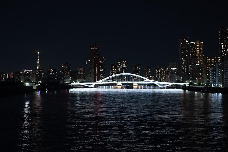 201031 築地大橋とスカイツリー