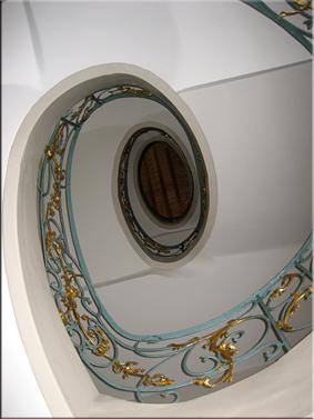 Interior de Ephraimpalais y su escalera oval - Berlín'10