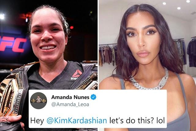 UFC champ Amanda Nunes calls out Kim Kardashian for exhibition fight