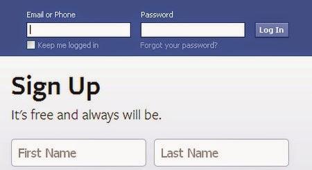 Đăng nhập Facebook