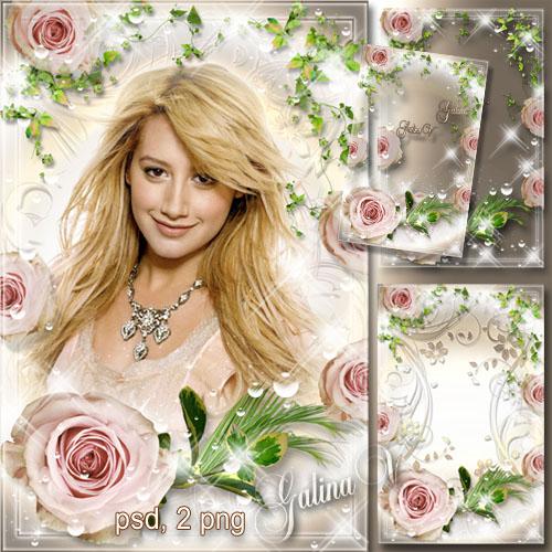 Цветочная рамка - Роза, воплощение красоты и величия