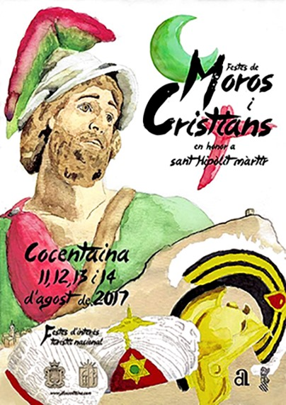 cartelL 2017 MOROS CRISTIANS COCENTAINA b