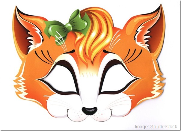 kids-face-masks-template-animals-orange-fox-girl