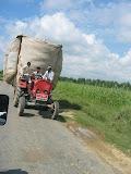 Overloaded tractor near Amarpurkashi