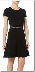 Michael Kors knit short sleeved skater dress