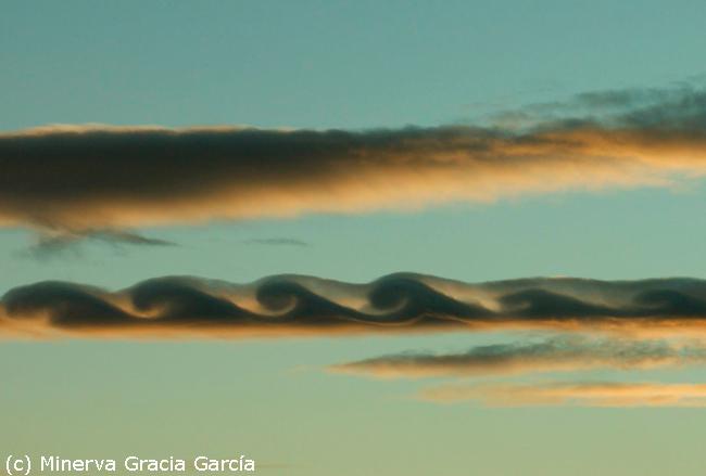 Excepcional inestabilidad Kelvin-Helmholtz fotografiada en Sagunto, Valencia