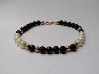 14 K Gold & Beaded Bracelet