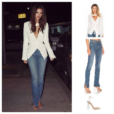 Emily Ratajkowski in Stone Cold Fox East Blazer
