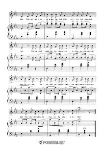 """Песня """"Немецкая песенка"""" П.И. Чайковского: ноты"""