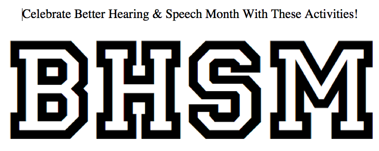 Better Hearing and Speech Month Coloring Page With Suggested Homework Activities image